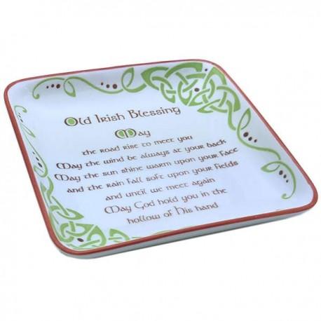 Clara Crafts Irish Blessing Square Dish