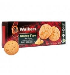 Walkers GF Ginger & Lemon Shortbread 140g