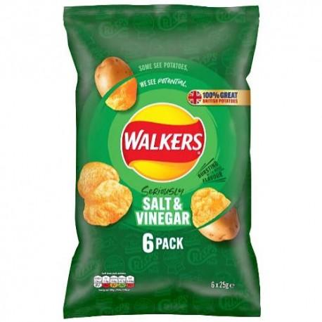 Walkers Salt & Vinegar Crisps 6 Pack