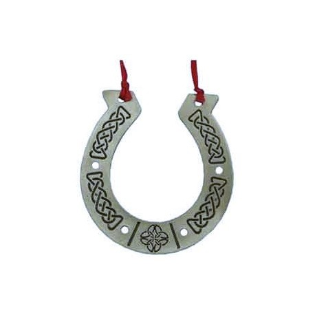 Pewter Celtic Horseshoe Ornament