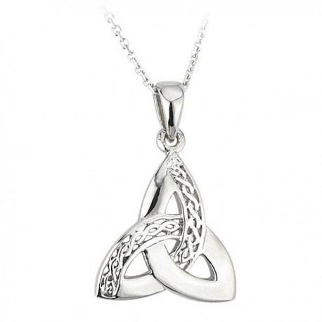 Solvar Trinity Knot Scroll Silver Pendant