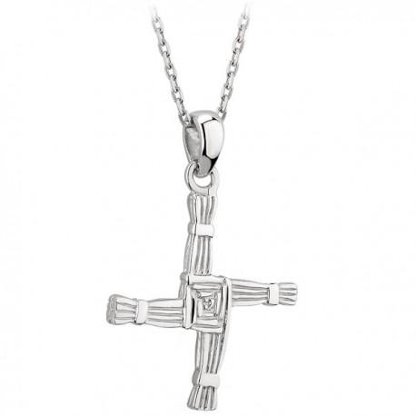 Solvar Silver St Brigid Cross Pendant