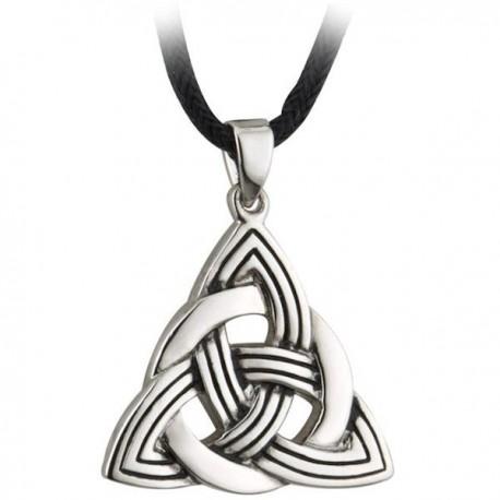 Solvar Trinity Knot Rhodium Pendant