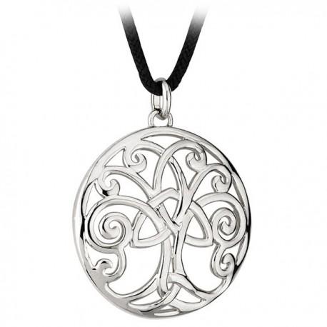 Solvar Tree of Life Rhodium Pendant