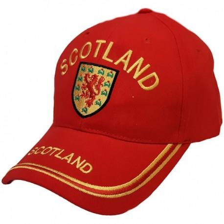 Scotland Lion Shield Red Baseball Cap