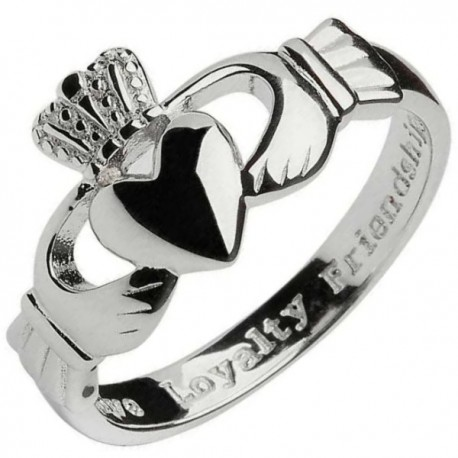 Shanore Mens Silver Traditional Claddagh Ring