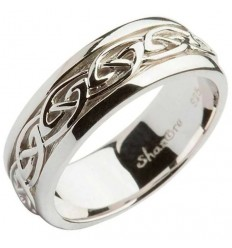 ShanOre Mens Silver Celtic Knot Band Ring