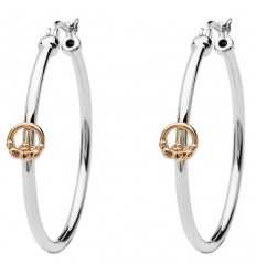 ShanOre Rose Gold Claddagh Hoop Earrings