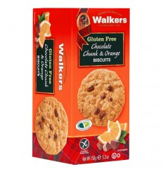 Walkers GF Chocolate Chunk & Orange Biscuits 150g