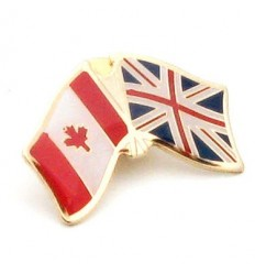 United Kingdom-Canada Friendship Pin Badge