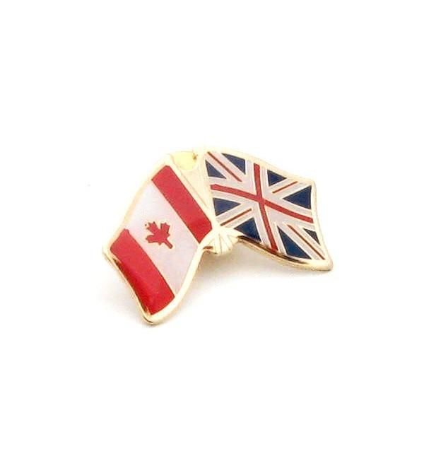 Delightful United Kingdom Canada Friendship Pin Badge