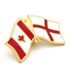 England-Canada Friendship Pin Badge