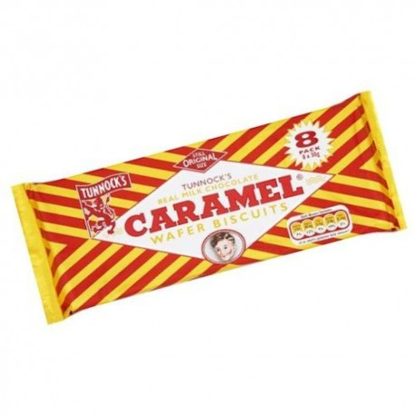 Tunnocks Milk Chocolate Caramel Wafers - 8 Pack
