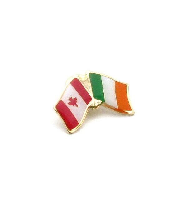 Lovely Ireland Canada Friendship Pin Badge