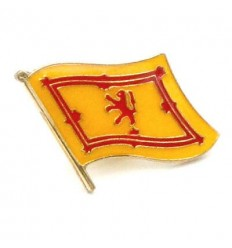 Scotland Lion Rampant Flag Pin Badge