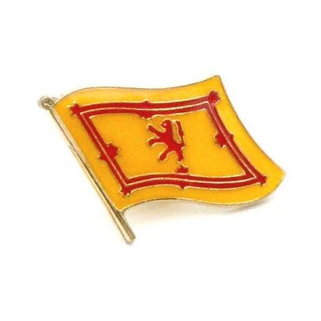 Scotland Lion Rampant Flag Pin Badge