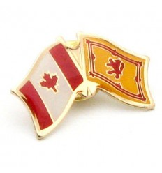 Scotland Lion-Canada Friendship Pin Badge