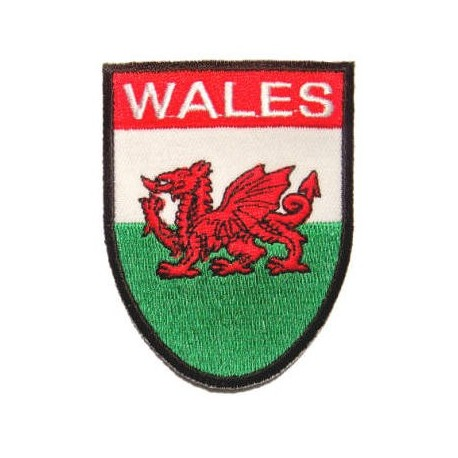 Wales Flag Shield Patch