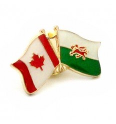 Wales-Canada Friendship Pin Badge