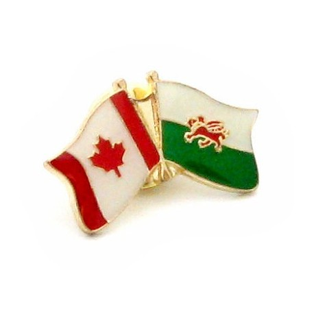 Wales-Canada Friendship Pin Badge