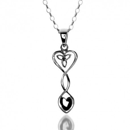 Sea Gems Celtic Love Spoon & Heart Pendant