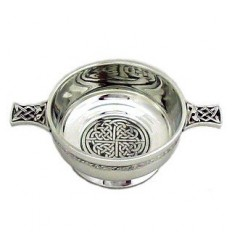 Celtic Knot Medium Pewter Quaich