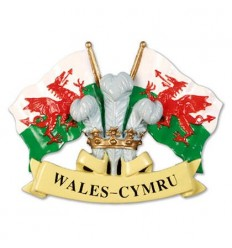 Wales Feathers & Flags Magnet